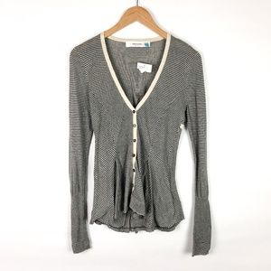 Anthropologie Sweaters - NWT Anthropologie Sparrow Striped Lace Cardigan